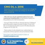 CMO no. 34, s. 2016