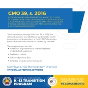 CMO no. 39, s. 2016